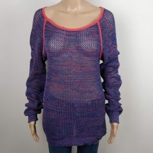 Roxy Loose Knit Cover Up Long Sleeve sweater/Shirt